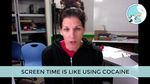 SCREEN TIME IS LIKE USING COCAINE