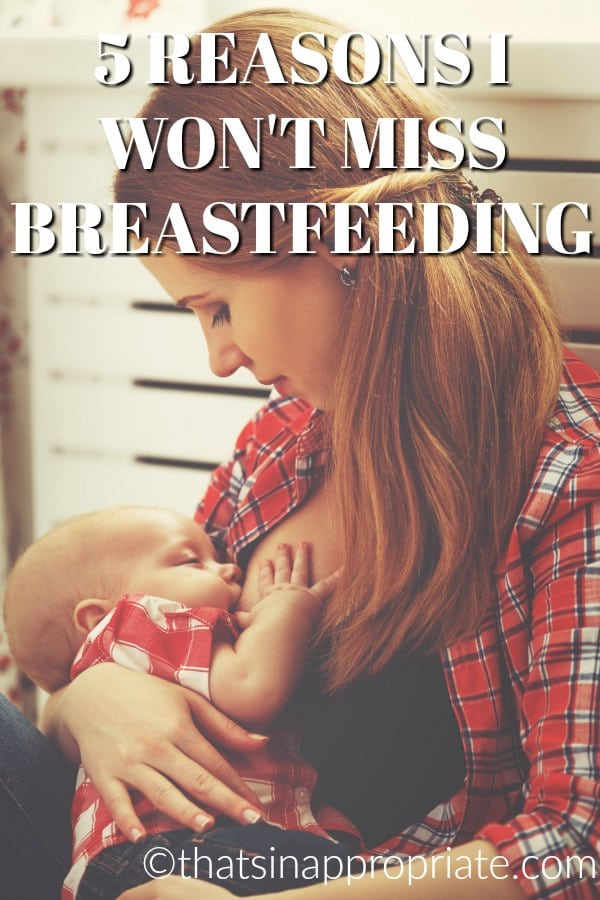 Breastfeeding always has to come to an end. It can be complicated and mixed with emotions for the mom who is breastfeeding. But, this honest post shares how much it can feel good to move on from breastfeeding, too. #breastfeeding #momlife #motherhood #parenting #parenthood #breastisbest