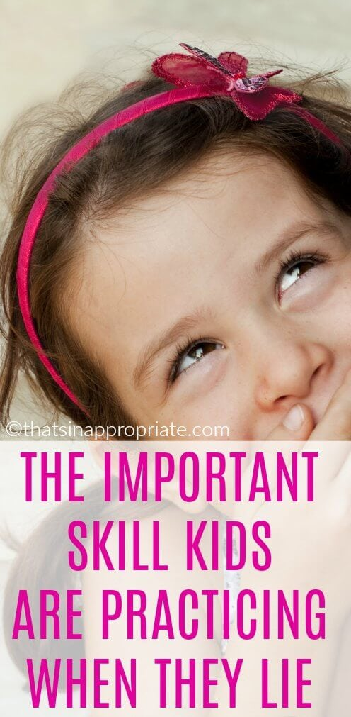 Kids lie. It's just a part of their development and all kids do it. Here's the reason why your kid is lying to you and why it's an important social skill that they need for child development. #socialskills #kids #parenting #lying #kidslying #parenthood #motherhood #momlife