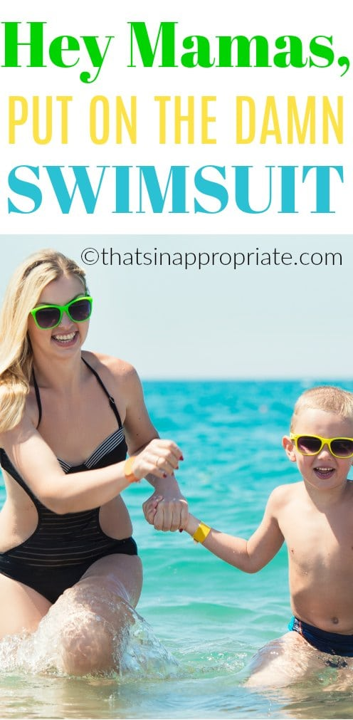 MAMAS put on the swimsuit, and enjoy! #swimsuit #mamas #fun #pool #momlife