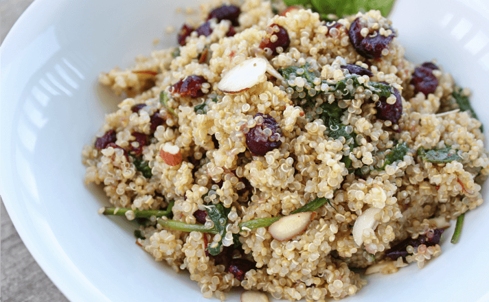 Cranberry Quinoa Bowl with Lemon Vinaigrette