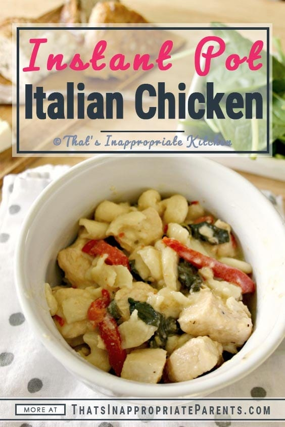 This creamy instant pot Italian Chicken and Pasta recipe is sure to please your entire family. With fresh vegetables, chicken, pasta and a creamy sauce, it's one your kids will eat too. This easy recipe makes the perfect quick meal idea for busy nights. #instantpot #instantpotrecipe #chickenrecipe #instantpotchicken #creamychickenandpasta #easyrecipe #familyrecipe #dinneridea #instantpotdinner