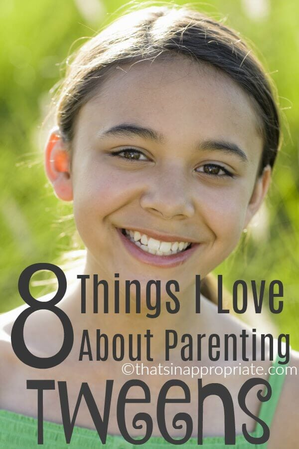 I love the tween years. While some parents loathe the pre-teen years, they really are some of the best in parenting. #tweens #tween #preteen #parenting #momlife #raisingtweens