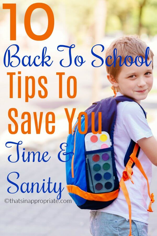 Back to school is a crazy time of year for moms. These real mom tips and tricks to help make back to school easier will save your sanity and save you time. #backtoschool #motherhood #momlife #school #schoolsupplies #humor #parenthood #motherhooduncensored