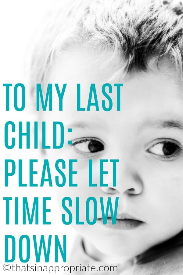 Watching your last child grow up can be hard on a mama's heart. This sweet and inspirational blog post will remind you how motherhood is the most precious gift. #motherhood #momlife #lastchild #lastborn #motherhooduncensored