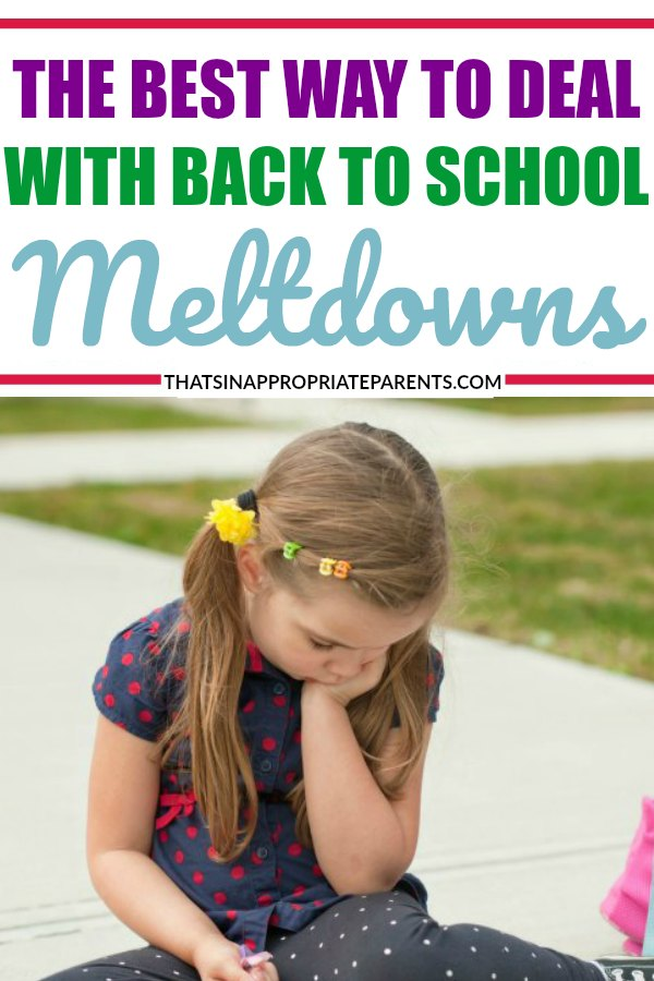 Back to school can be a hard transition for many kids. It can result in acting out, emotional overwhelm, and tantrums that are not typical for your child. Here's the best way to help your child deal with back to school meltdowns. #positiveparenting #motherhood #momlife #raisingkids #positiveparentingsolutions #emotionaloverwhelm #tantrums