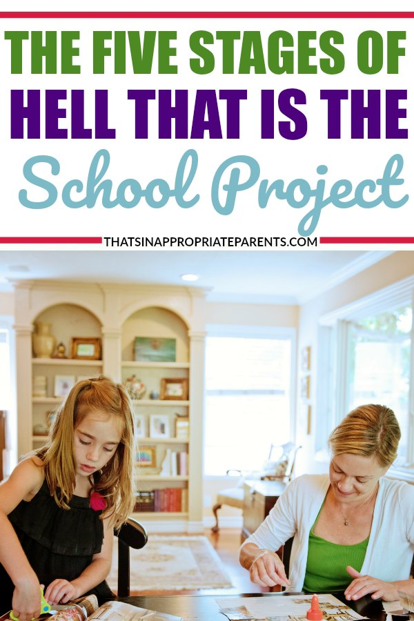 School projects are a LOT of work for both the kids and the moms. Sometimes no matter how much we try not to get involved in the science fair project or idea, we can't help it. #momlife #schoolproject #sciencefair #projects #motherhood #humor