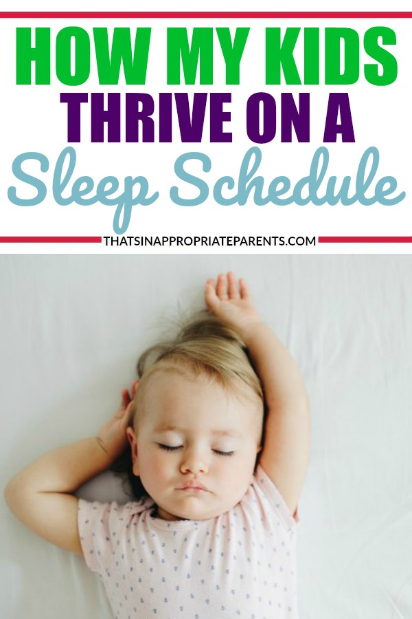I never thought that my kids would need such a rigid sleep schedule, but it has saved our sanity as parents. Kids need their sleep, and here's how my kids thrive on a sleep routine that works for our family. #sleep #sleepschedule #sleeproutine #kids #momlife #parenting #sleepissues