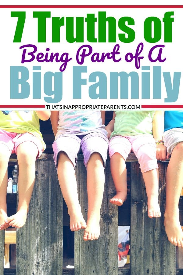 There are a lot of struggles that come with having lots of kids. But, the blessings of big families way outnumber the hard things that come from being a part of a big family. Love this! #bigfamily #bigfamilies #largefamilies #momlife #parenting #humor #funny