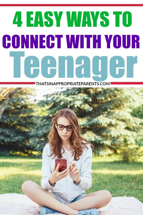 Teenagers get a bad rap. Sometimes, it's hard to know how to connect with your teen in a meaningful way. Here are 4 easy ways to keep your relationship with your teenager strong. #teenager #teens #parenting