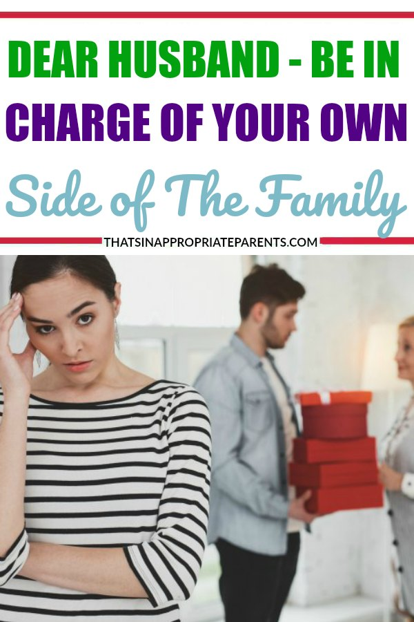 With the holiday approaching, it can be so hard to keep track of two families. This honest and raw letter to a husband about keeping track of his own side of the family is so true! #marriage #momlife
