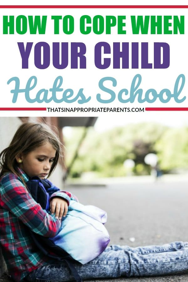My Child Hates School and I'm Tired of Fighting It. How do you cope as a parent when your child hates school? This mom offers insight into what it's like to deal with school refusal. #schoolrefusal #school #parenting #momlife #parents #motherhood