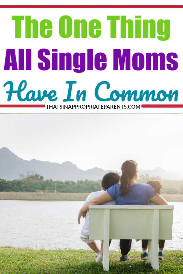 The one thing all single moms have in common. This post is heartbreaking, raw and real, and gives you a glimpse into what single moms go through every day. #momlife #singlemom #parenting