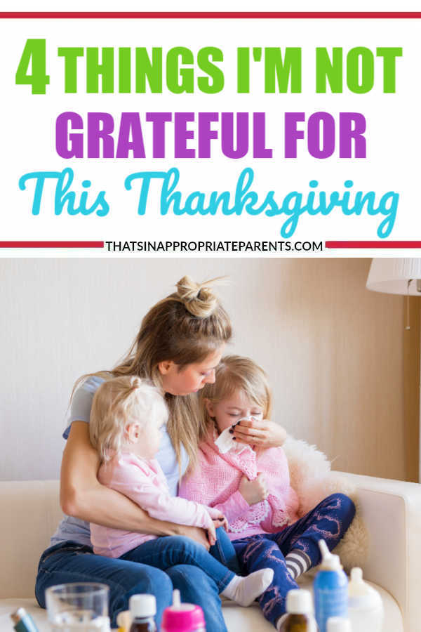 This funny and REAL blog post about how NOT to be grateful is exactly what you're going to want to read for a laugh this November. #gratitudechallenge #parenting #momlife #thanksgiving
