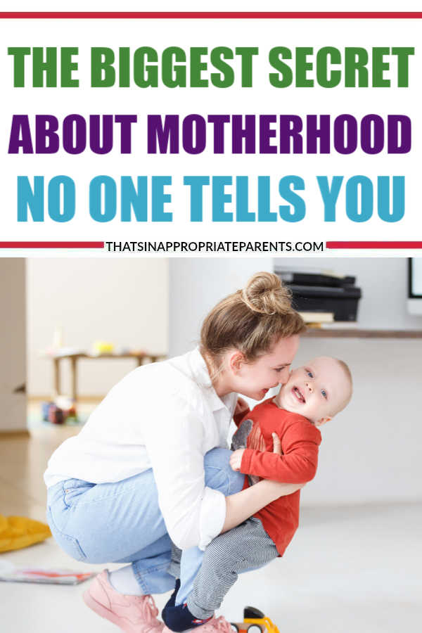 Everyone tries to tell you how motherhood will change you. But here's the biggest secret about motherhood no one tells you. #motherhood #momlife #filterfreeparents #moms #parenting