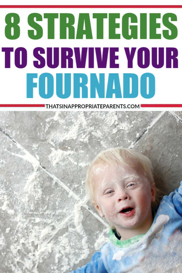 Having a four year old can test your patience and parenting skills. Here are 8 strategies to survive your favorite little fournado. #momlife #humor #parenting #motherhood #fouryearolds #fournado