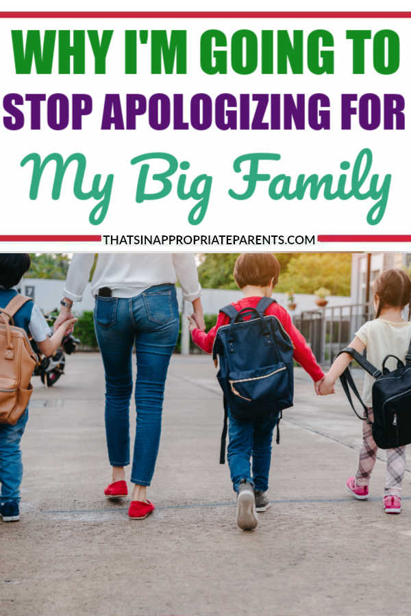 I've been feeling bad about the fact that my big family takes up a large space.  Well, guess what? I'm not doing that anymore. #bigfamily #parenting #momlife #kids #children