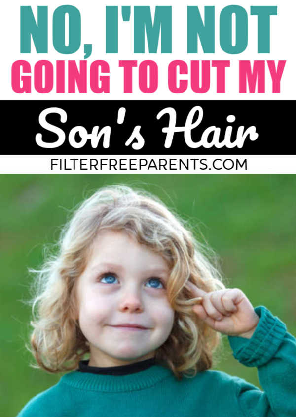 It's OK to let my little boy have long hair. And, no it's none of your business. #littleboy #hairstyles #styles #manbun #longhair #motherhood #momlife