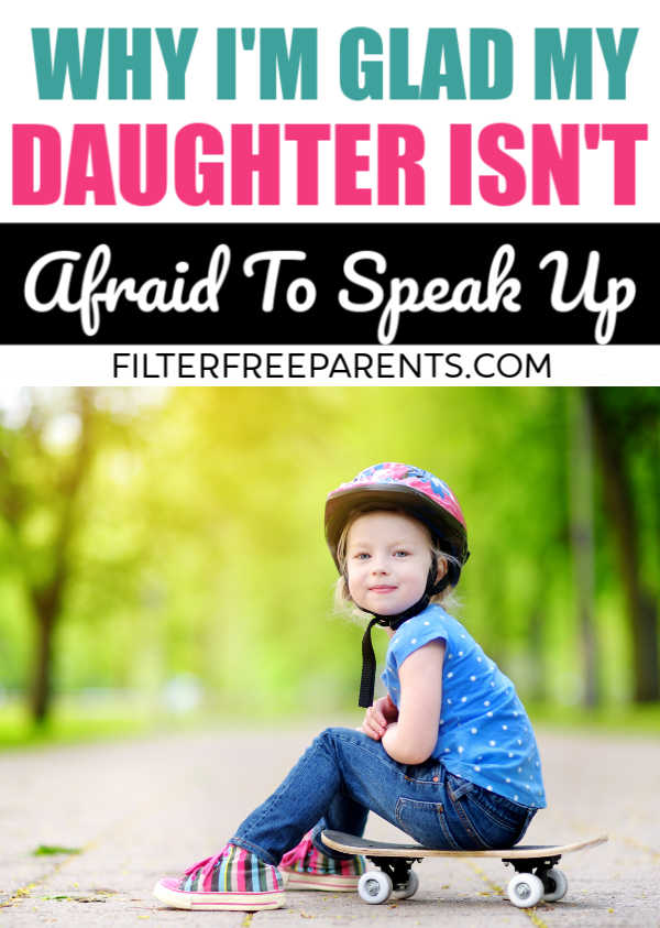It's important to raise strong willed daughters that aren't afraid to speak up and stand their ground. Raising feminist daughters is a gift. #feminism #daughers #motherhood #momlife #filterfreeparents