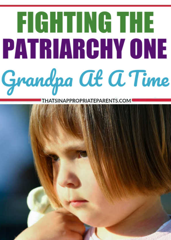 Fighting the patriarchy one Grandpa at a time. Teaching my daughter that she has power to say no, and has control over her own body. #momlife #smashthepatriarchy #patriarchy #feminism