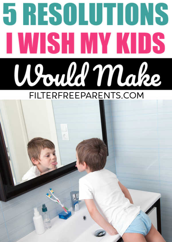 Parenting can be funny. Like, why can't our kids make new years resolutions they will actually keep? here's what I'd want them to be. #newyears #resolutions #humor #funny #parenting #filterfreeparents #momlife