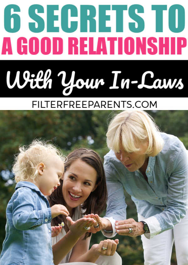 Do you feel like you have the in laws from hell? Becoming a daughter in law or a son in law isn't always easy. Here's how to have a good relationship with your in laws now that you have kids of your own. #momlife #parenting #motherhood #inlaws #daughterinlaw
