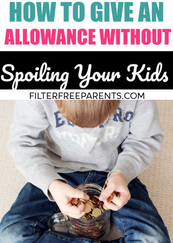 Parents often worry about how to give their kids an allowance and how to do it without spoiling their kids. This mom shares what works in her family, and gives great advice on how to pay your kids for chores. #allowance #chores #filterfreeparents #momlife #parenting #motherhood