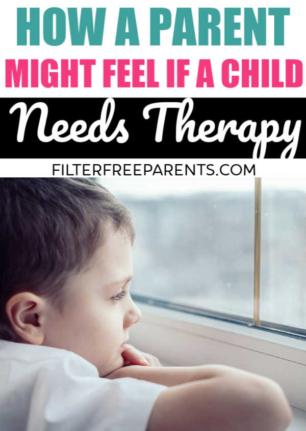 It's not uncommon for a child to need intervention or therapy for anxiety, depression, or other special needs. Here's one mom's perspective on her child going therapy. #endthestigma #momlife #therapy #filterfreeparents