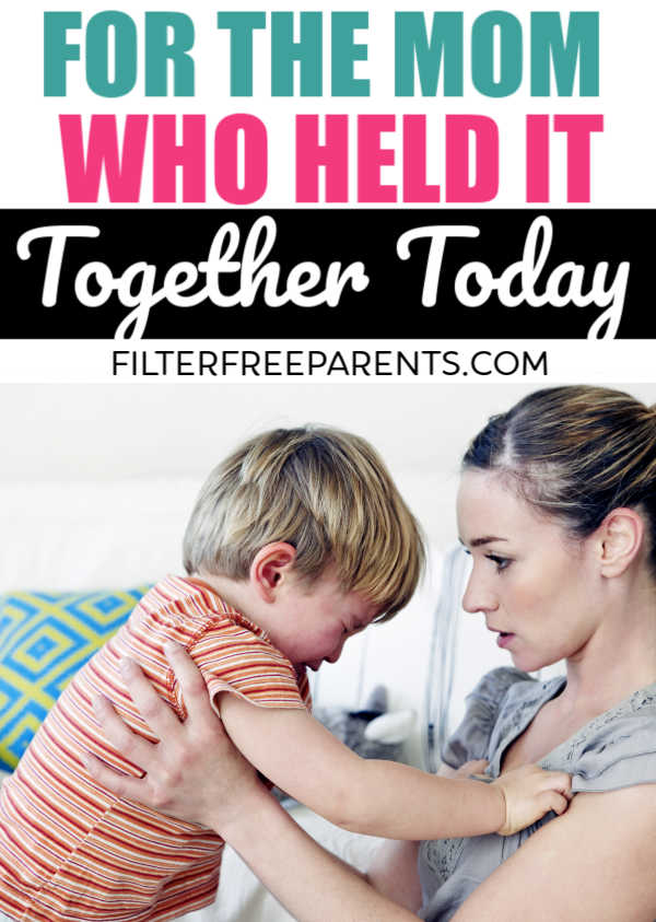 For the mom that kept her patience and held it together during a toddler tantrum or a screaming baby - we're here to tell you good job. You deserve an award. #motherhood #filterfreeparents #Momlife #humor