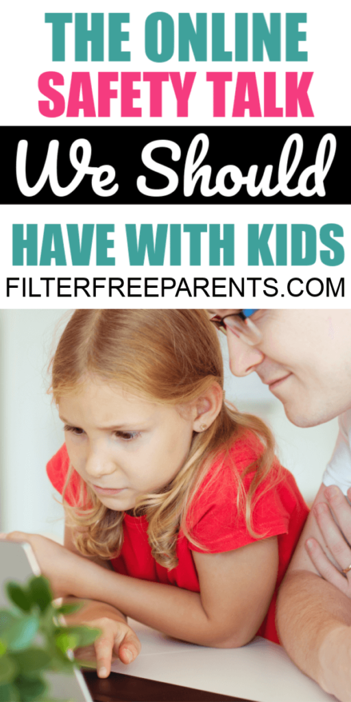 We should all be talking to our kids about online safety and how to protect themselves from things they see online. Parents can't possibly know all the dangers of the internet that are out there, but we can talk to our kids to keep them safe online. #safety #filterfreeparents #onlinesafety